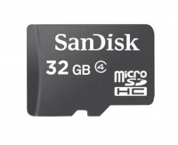 SanDisk microSDHC 32GB card only