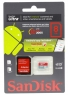 SanDisk microSDHC 8GB class10 Ultra Android bi-coloured Card + Memory Zone Android App (SD adapter)