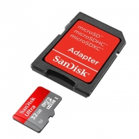 SanDisk microSDHC 32GB class10 Ultra Android bi-coloured Card + Memory Zone Android App (SD adapter)